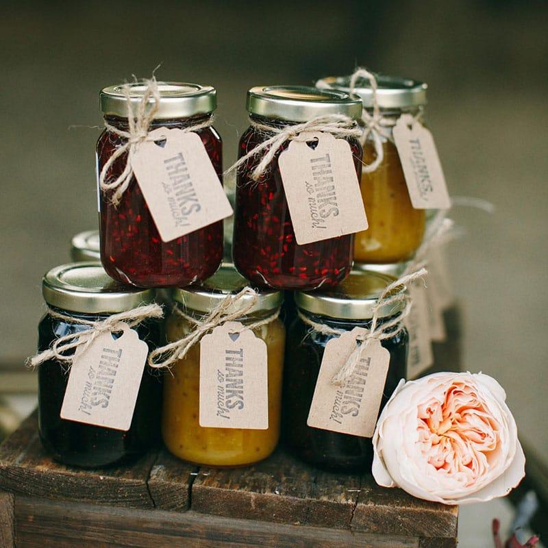 Organic Jam Weddingparty Favor 4 Oz Hartley Farms